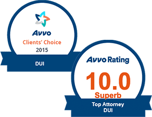 AVVO 10.0 Top DUI & Clients' Choice DUI