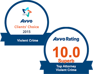 AVVO 10.0 Top Violent Crimes & Clients' Choice Violent Crime