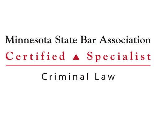 Criminal Law Specialist by the Minnesota State Bar.